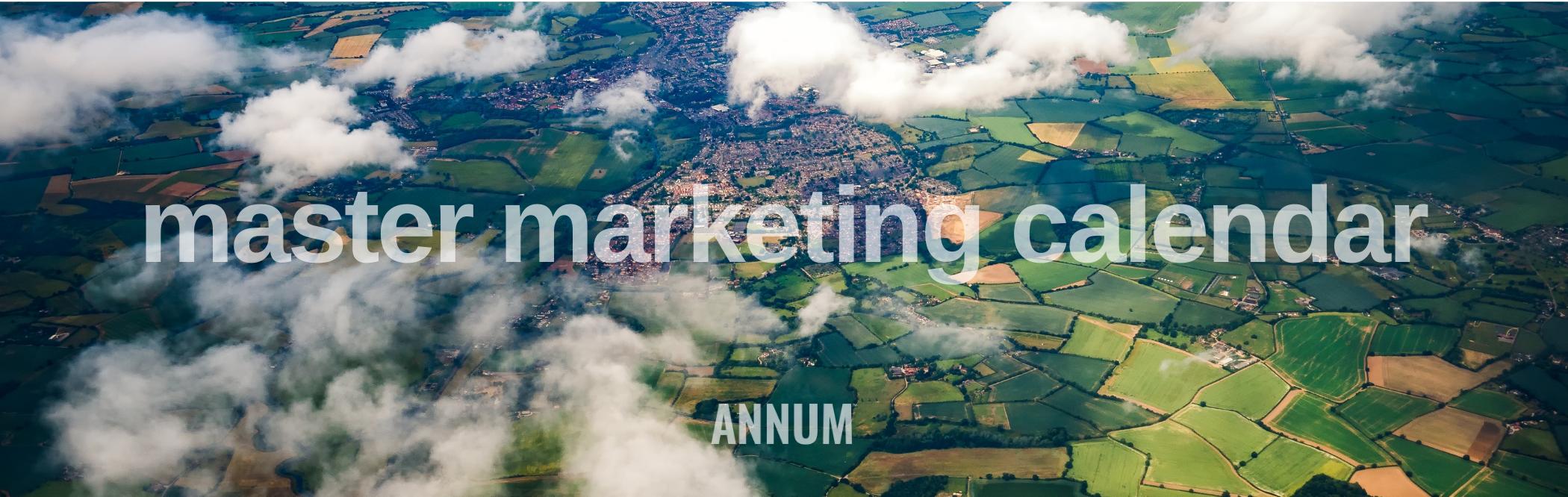 Annum master marketing calendar software